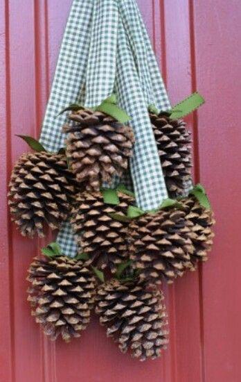 Herfst deurhanger   Autum decoration #dennenappel
