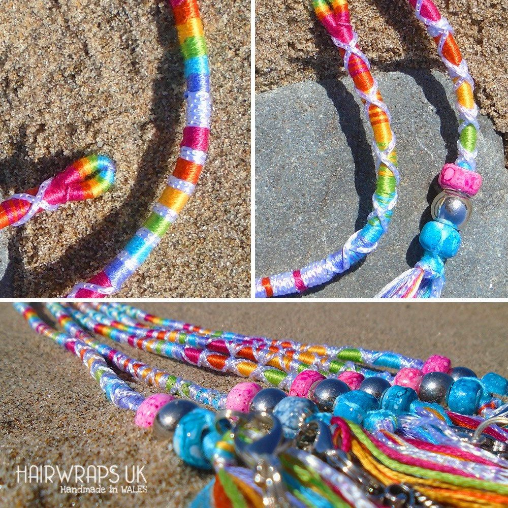 sky blue clear round plastic dreadlock braid Ponytail bracelet hair craft  bead
