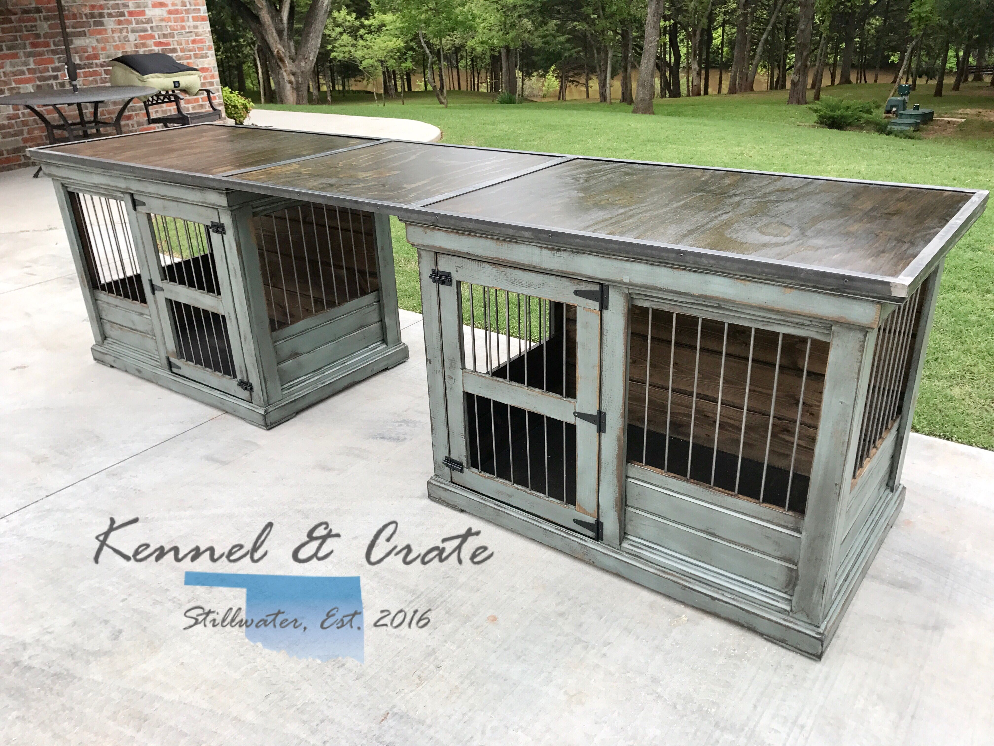 Talk About Desk Goals This Farm House Style Dog Kennel Is Created