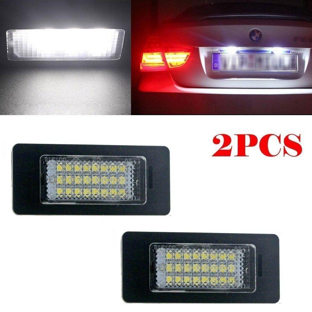 2 PCS 24LED License Number Plate Light Lamp Bulbs For BMW E92 E93 M3 E90 E70 UK