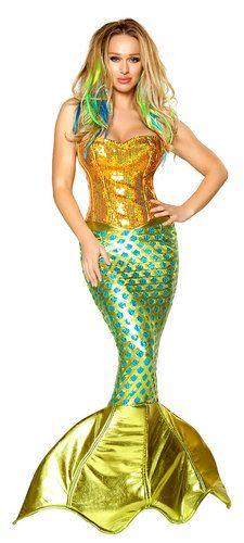 Adult Sexy Mermaid Halloween Costume Size Small | eBay
