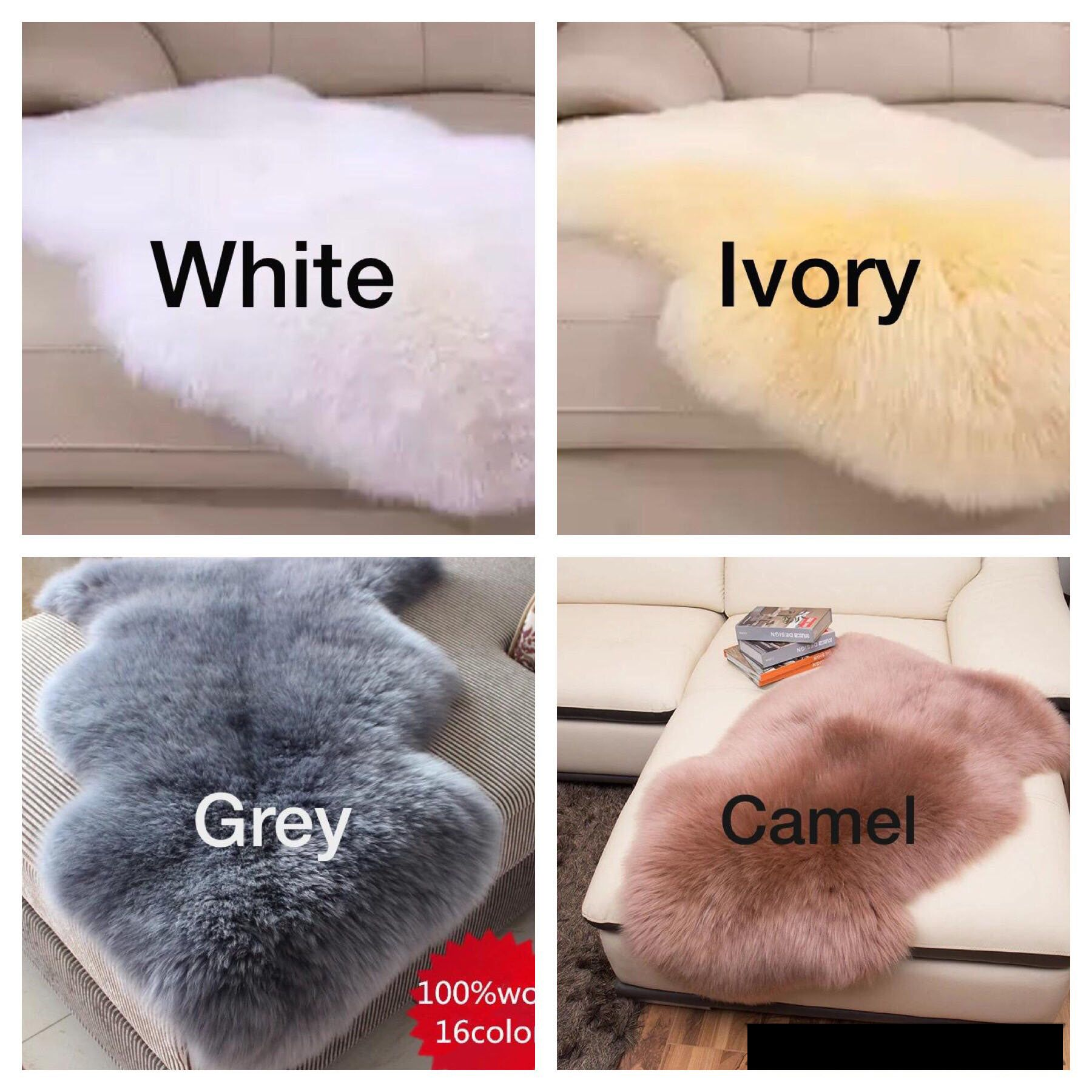 100 Australian Sheepskin Soft Sheepskin Rugs Available In 16 Colors Different Sizes Sheepskin Rug Soft Rug Colorful Rugs