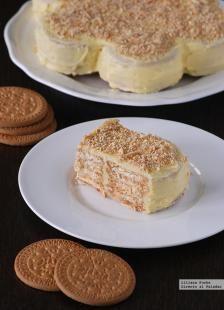 Tarta de galletas María receta fácil sin horno  | Comparte Recetas