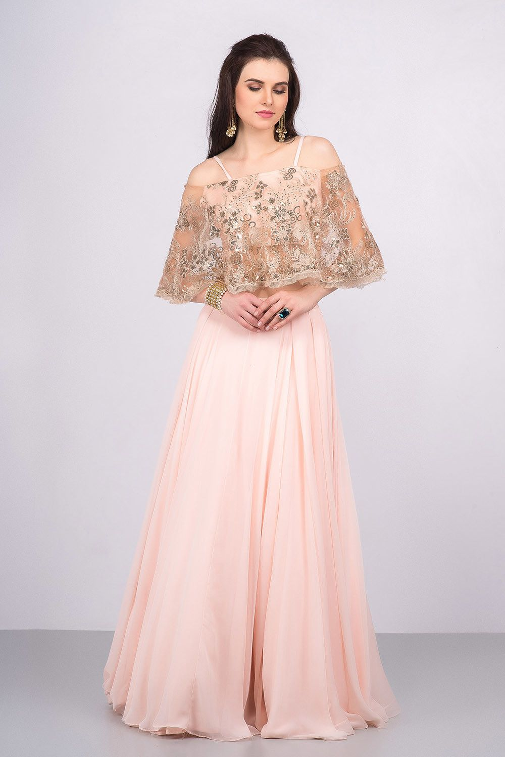 ca65c79b104bc Rent MALVIKA TALWAR - Cold Shoulder Crop Top And Skirt.