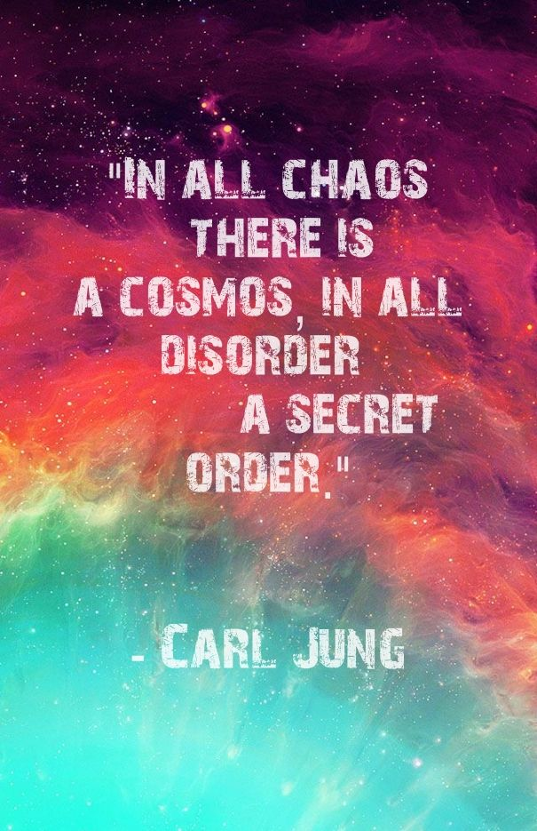 Image result for in all chaos there is a cosmos in all disorder a secret order