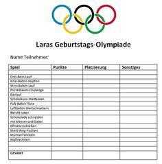 Fesselnd Olympiade Tabelle Mehr · Schatzsuche KindergeburtstagKindergeburtstag ...