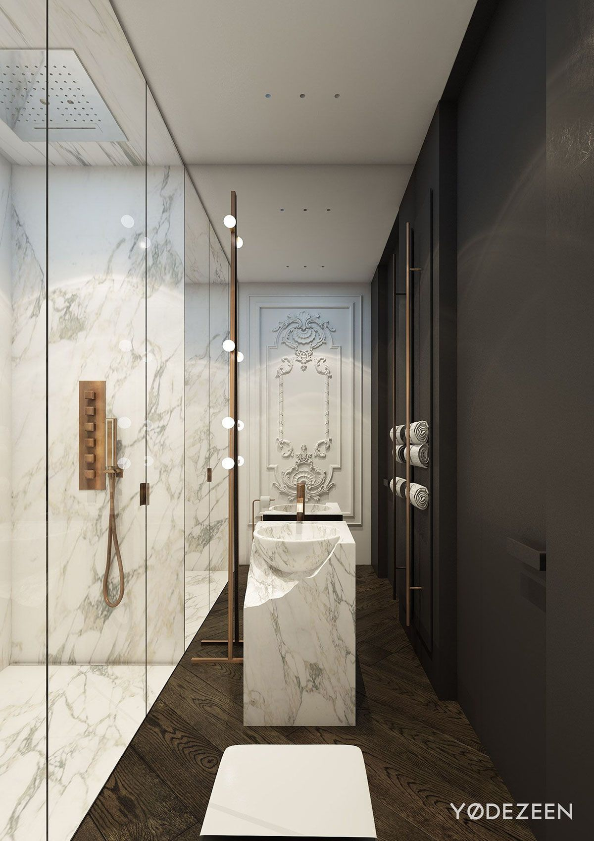 Modern Bathroom By Homify Modern: Located In The Heart Of Kiev, This Modern Apartment By YØ