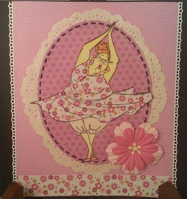 Art Impressions Rubber Stamps: Ai Golden Oldies: Dotty (Sku#U2778) ... handmade card. dancer, dancing