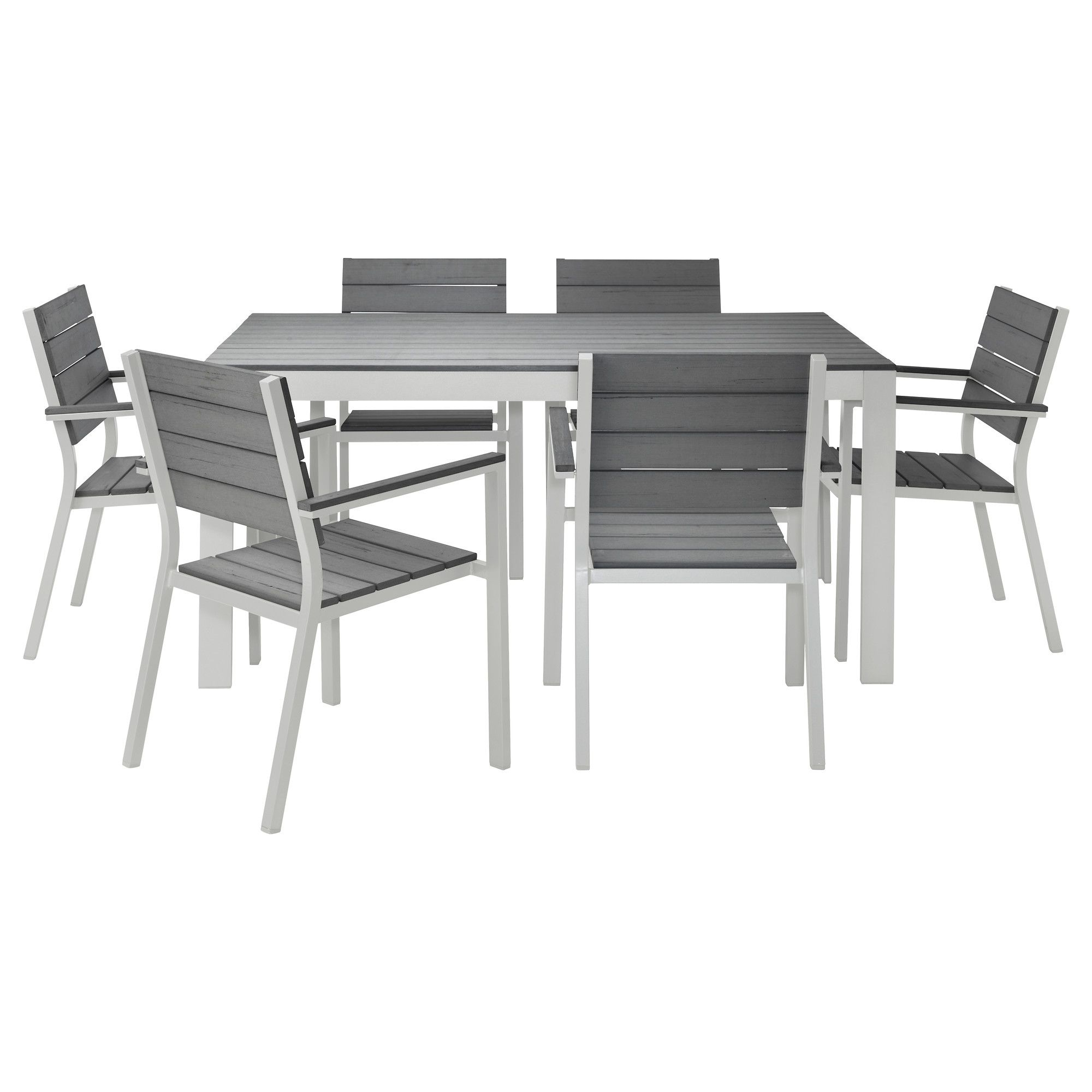 For Outside FALSTER Table and 6 chairs gray IKEA $505