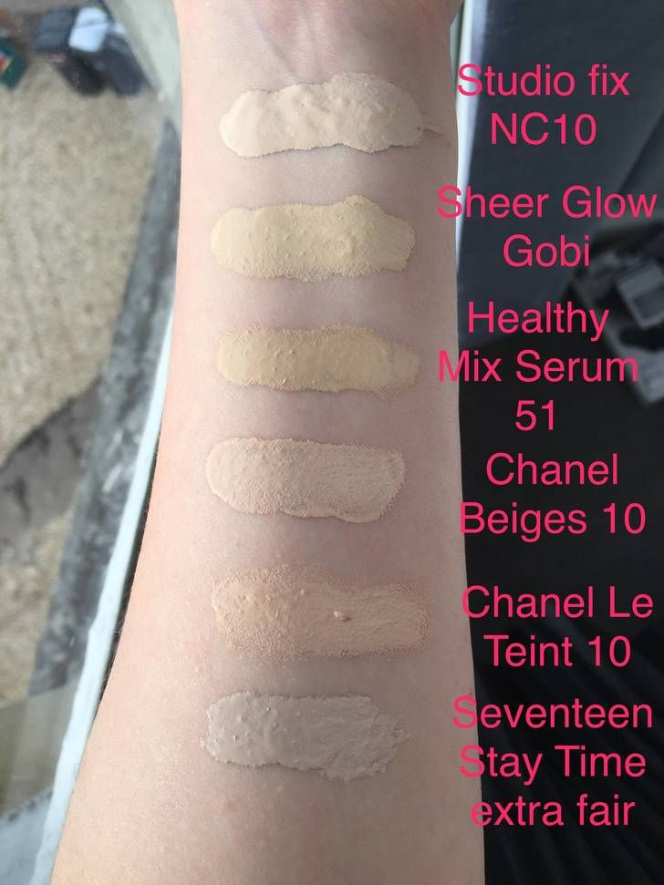 Some Pale Makeup Swatches (Concealers + Foundations, NW5