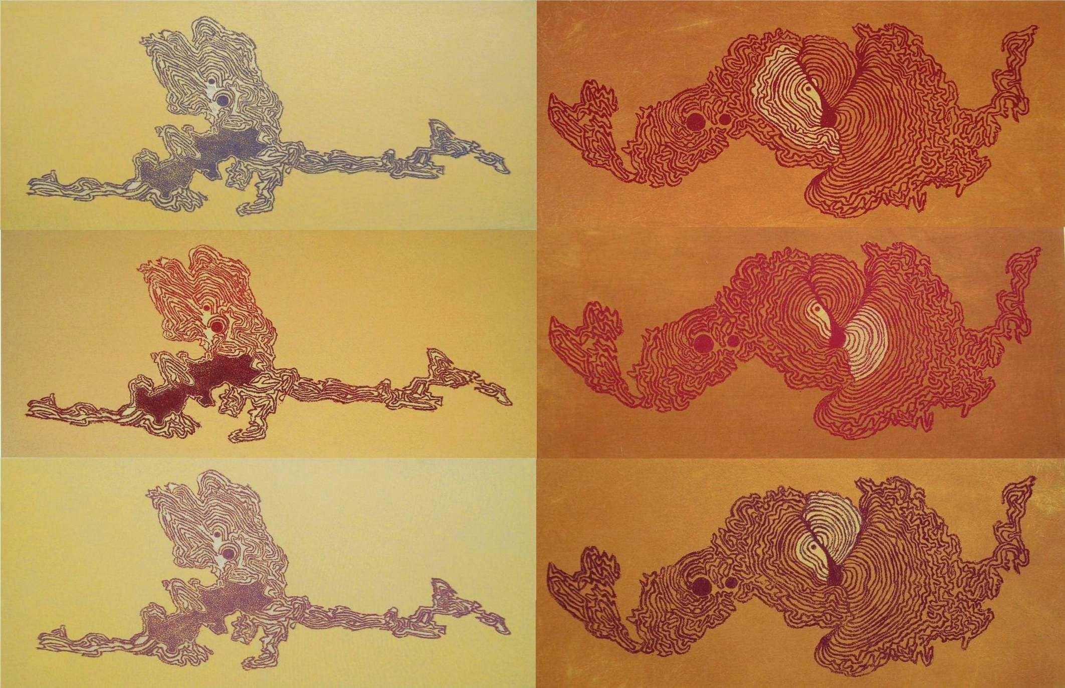 """Series """"Corteza 1 y 2"""", Poliestireno extendido sobre tela, 2008-2010. Autor Fco. Galindo."""