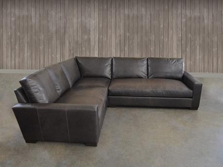 Braxton Mini Leather L Sectional Sofa Sectional Sofa Leather