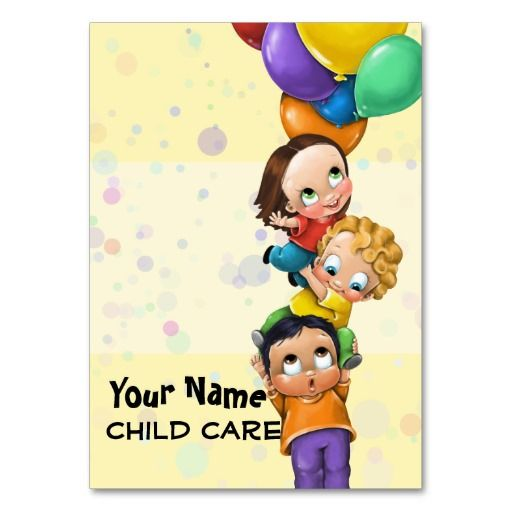 Child Care Babysitting Promo Card Large Business Cards Pack Of 100