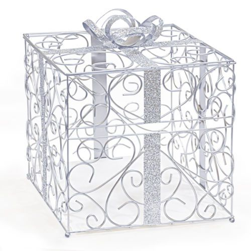 Card Boxes and Wishing Wells 168189 Silver Gift Card Holder – Ebay Wedding Card Box