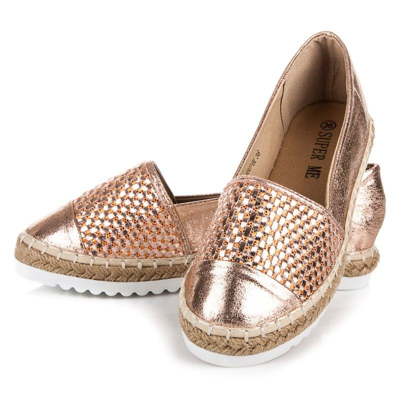 828e3ce03f Zlaté topánky espadrilky 6507CH
