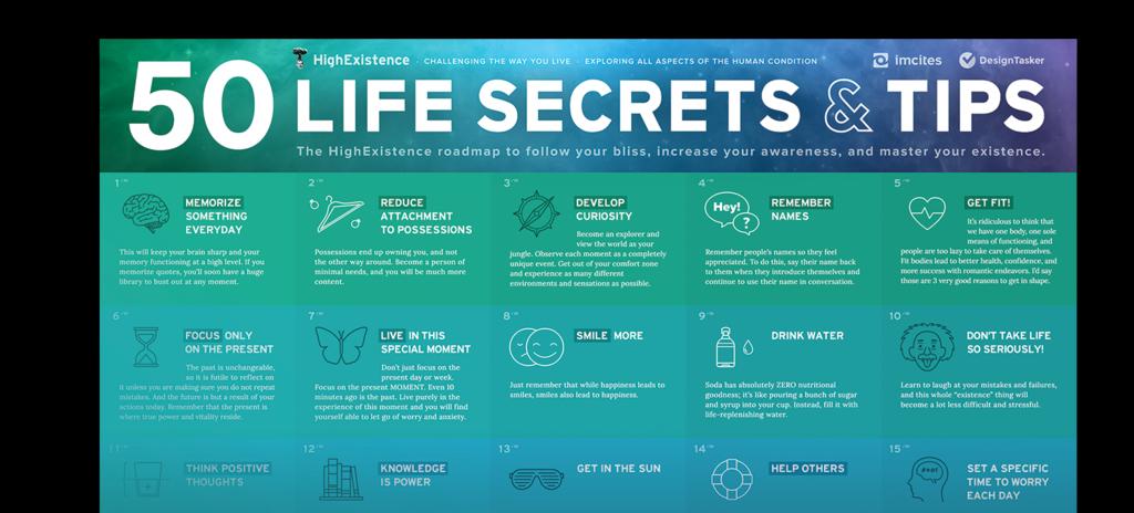 50 life secrets