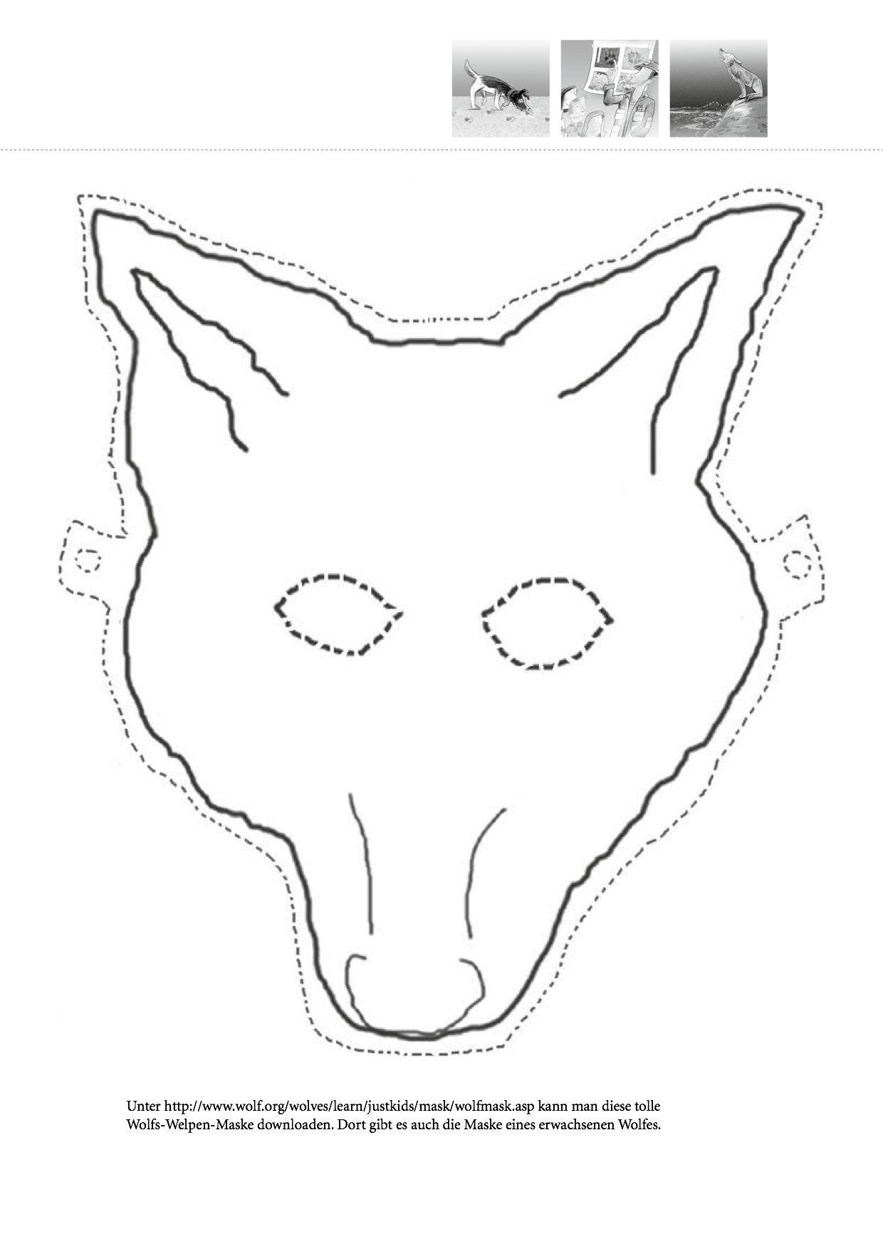 Wolfsmaske aus dem NABU Leitfaden für Kindergärten zum ...