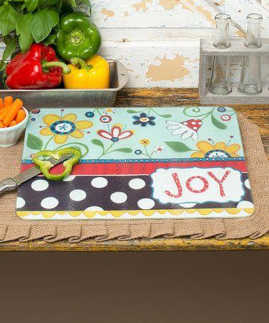 Look what I found on #zulily! 'Joy' Floral Cutting Board #zulilyfinds