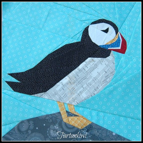 Puffin- A 12 Inch Paper Piecing Pattern | Foundation Paper Piecing ...