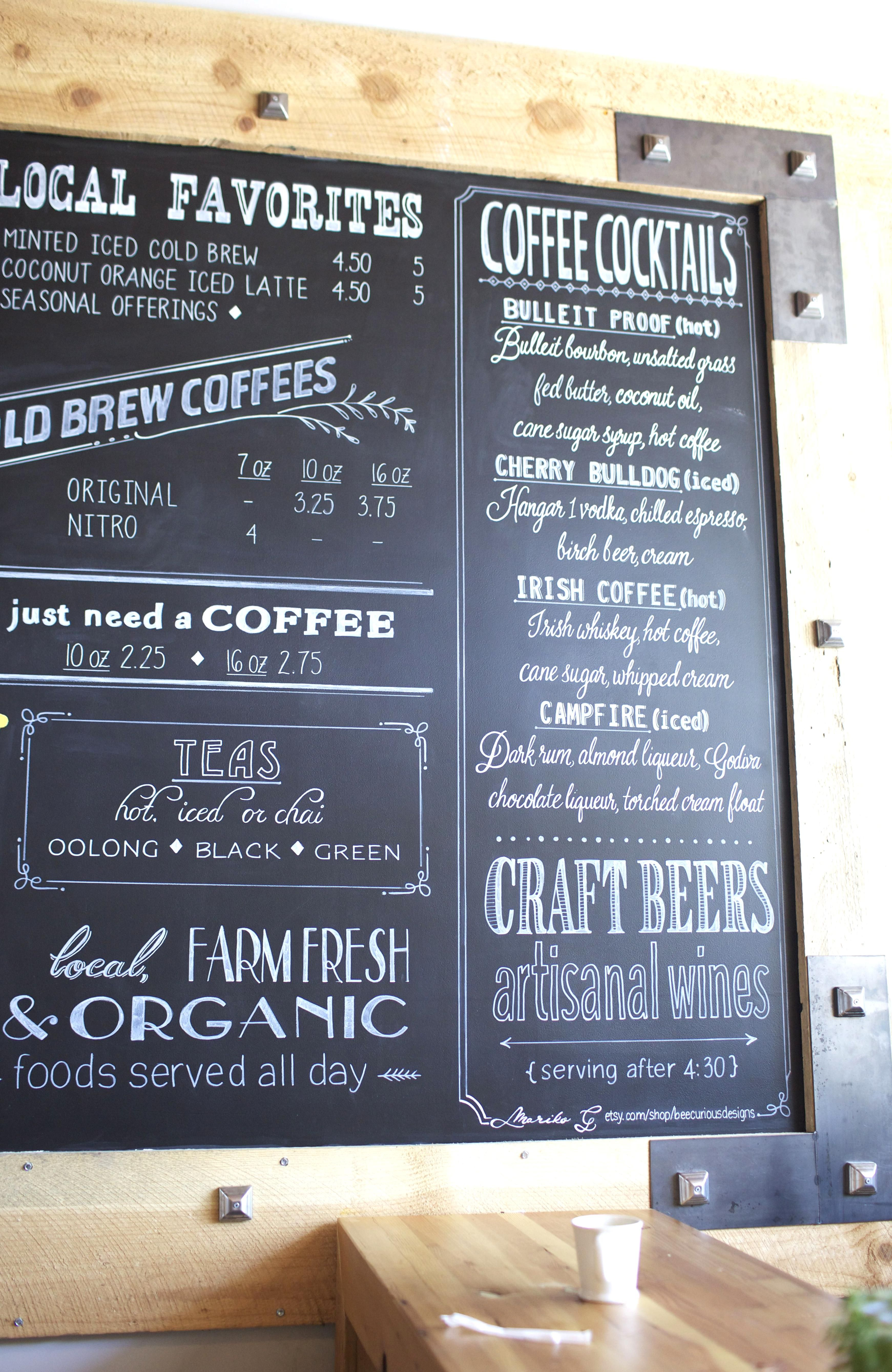 Off Site Mural Or Chalk Painting Coffee Shops Restaurants Corporate Branding In 2020 Coffee Shop Menu Coffee Menu Cafe Menu