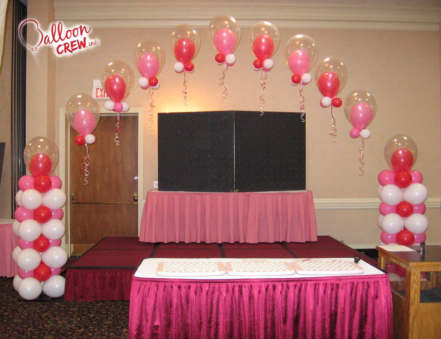 Wedding decoration ideas balloons  Pink Princess Arch balloonarch balloons doubleballoon columns