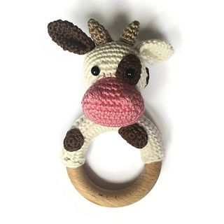Cow Rattle Teething Ring Pattern By Rosanne Briggeman Collane
