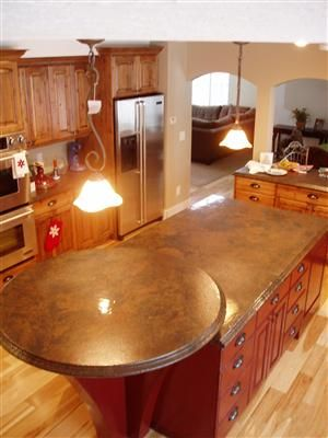 Pin By Aline S Crawford On House Ideas Countertops Contemporary Kitchen Concrete Countertops