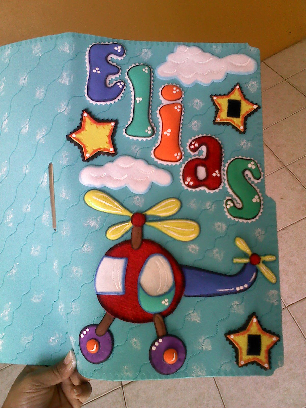Carpeta decorada para control maternal Ni±o carpetas