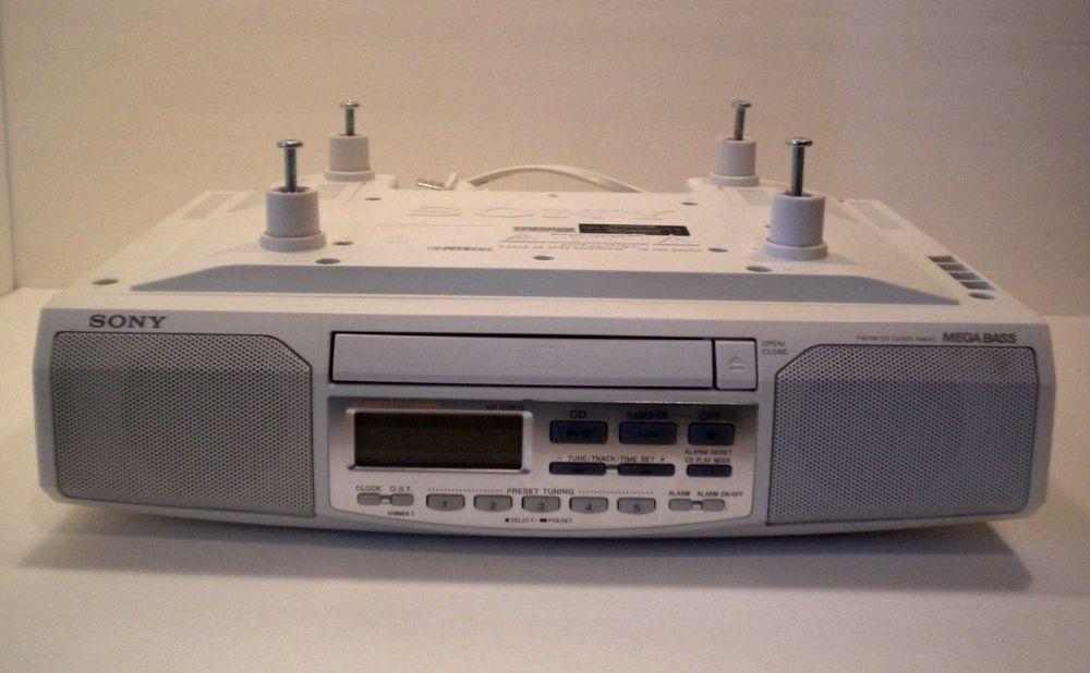 Sony ICF-CD513 Under Cabinet CD AM FM Clock Radio Alarm Kitchen ...