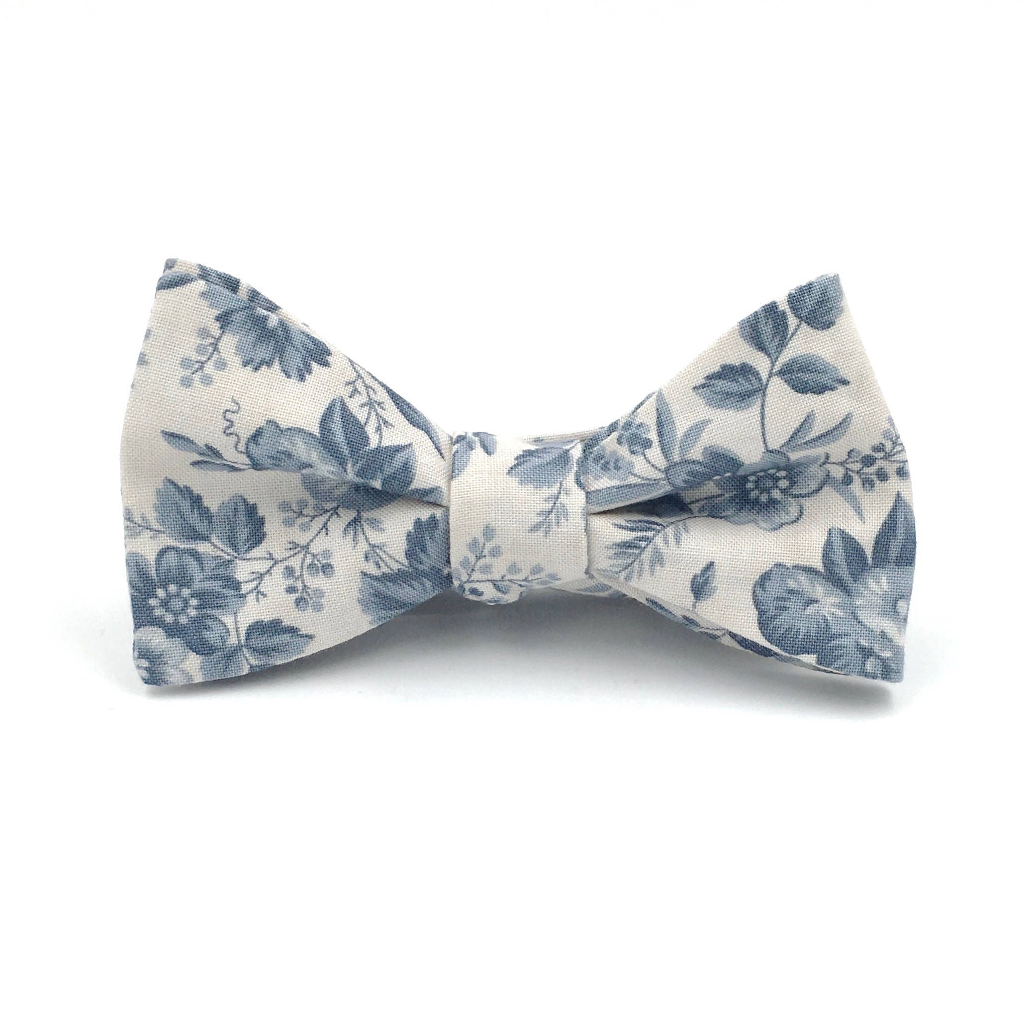 Excited To Share The Latest Addition To My Etsy Shop Dusty Blue Bow Tie Mens Light Blue Floral Tie Floral Bow T Light Blue Tie Bow Tie Wedding Blue Bow Tie