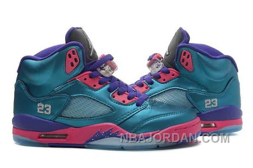 aa4584a6a Nike Air Jordan 5 Mens Dark Blue Purple Pink Shoes