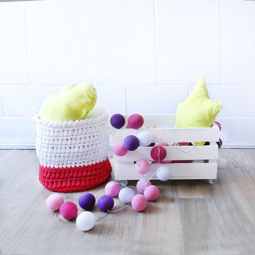 Cesto para guardar juguetes tejido a mano, en keeddo.com