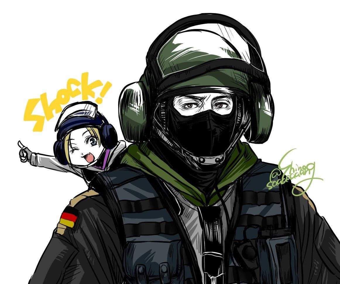 Bandit And Iq By Shinosaaaaaaang With Images Rainbow Six Siege
