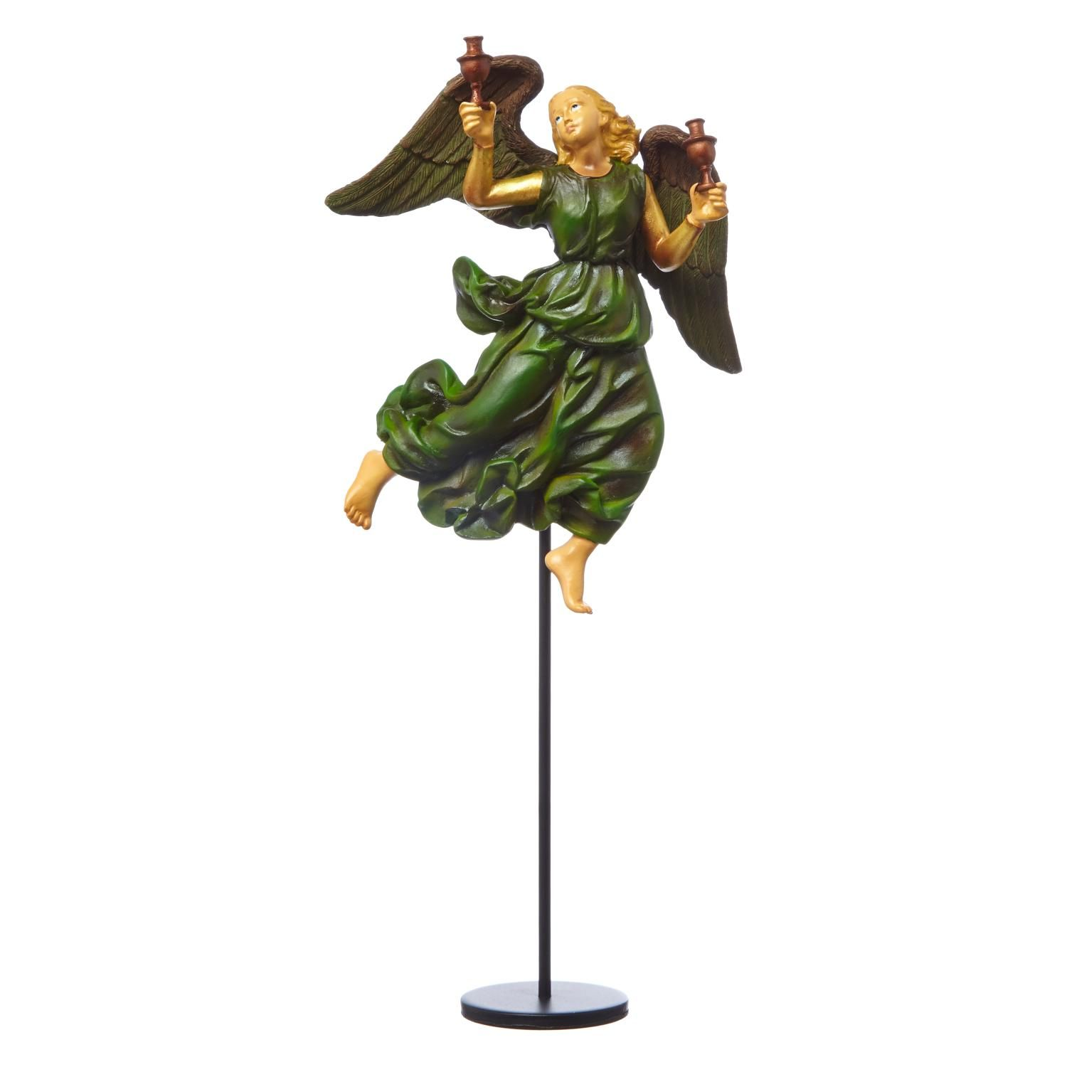 £27 - Raphael: Angel in Green Figurine. This charming hand-painted figurine inspired by Raphael's iconic painting The Mond Crucifixion, has been individually crafted by experienced and highly skilled craftsmen. Made from resin, it comes complete with a card featuring the painting, a description about the 'Angel in Green' character and information on the artist Raphael. #AngelTrail
