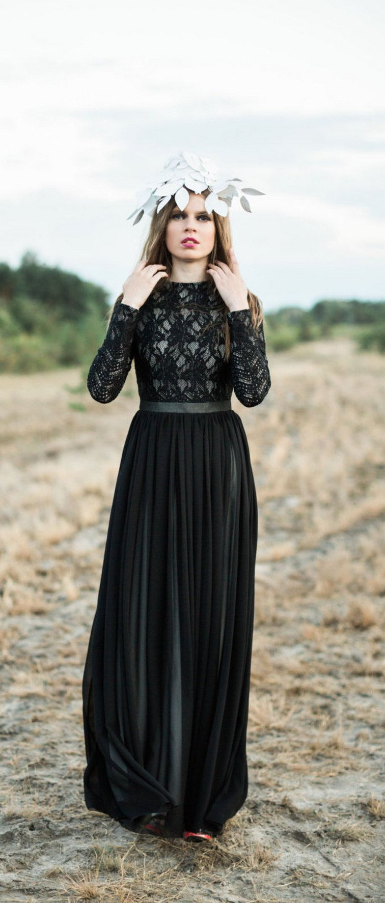 Black long sleeve wedding dresses  Favorite  Black Long Sleeve Wedding Dresses ideas  Wedding
