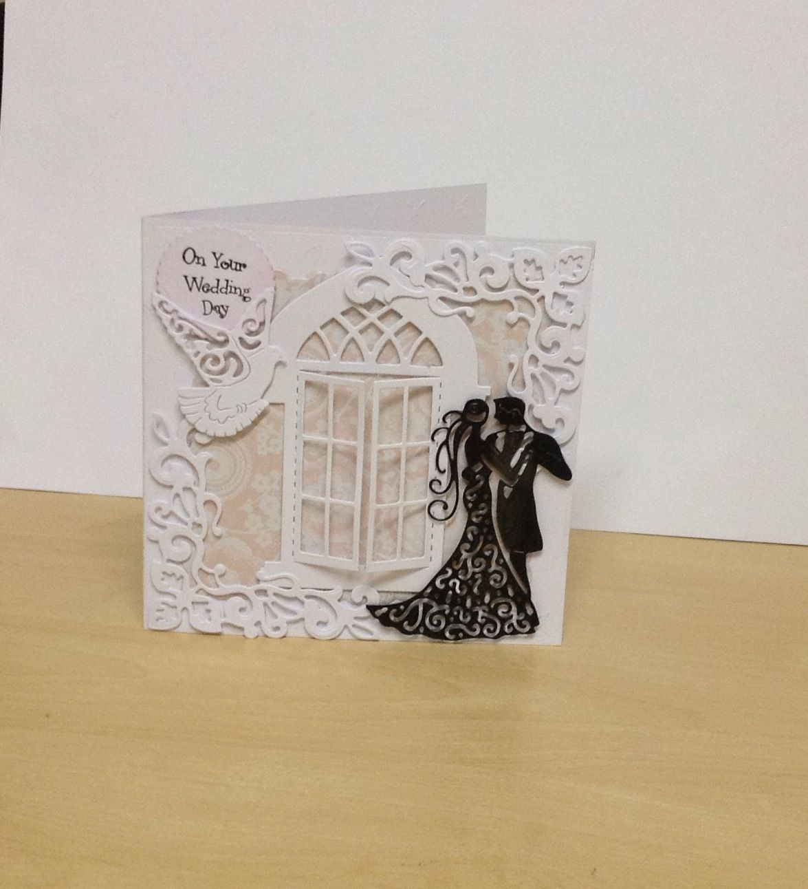 Card Making Ideas Using Tattered Lace Dies Part - 21: Wedding Card Using Tattered Lace Dies