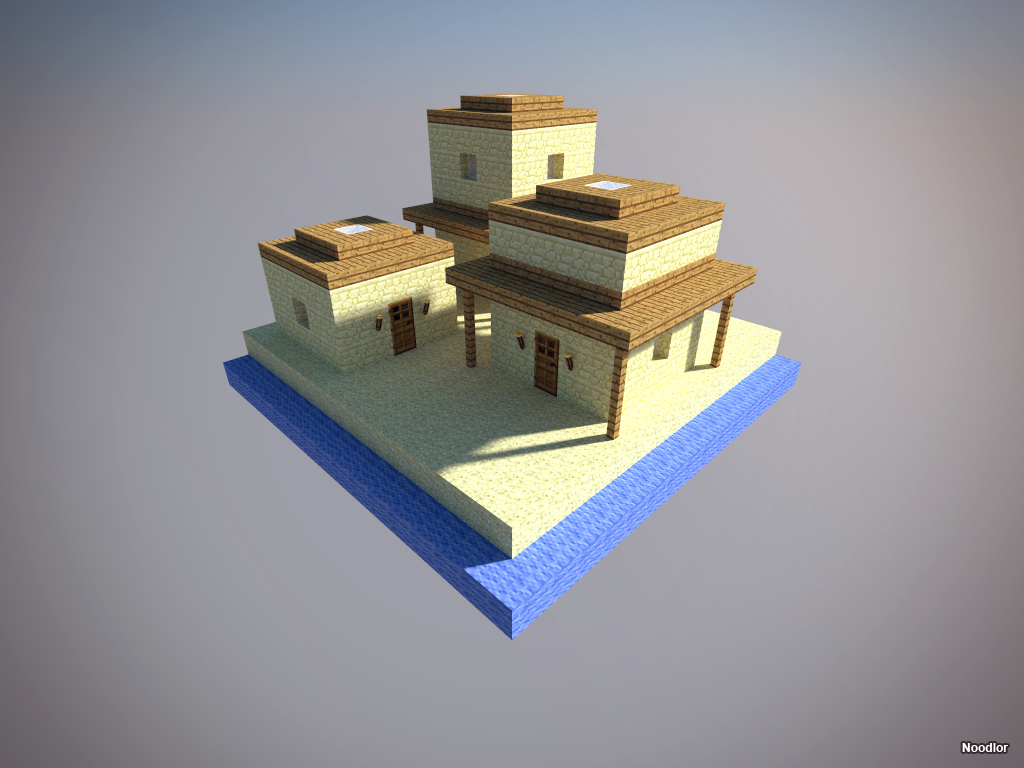 Desert dwelling minecraft trees and towers pinterest for Beach house designs minecraft