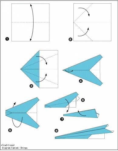 Поделки из бумаги самолет фото