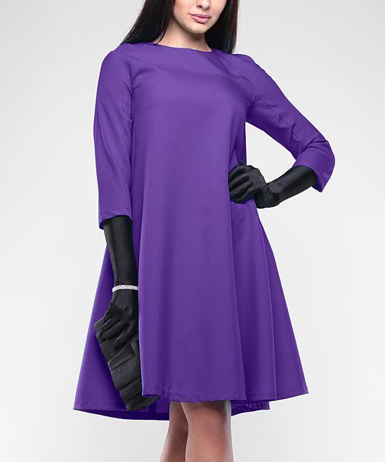 Plus Size Violet Shift Dress