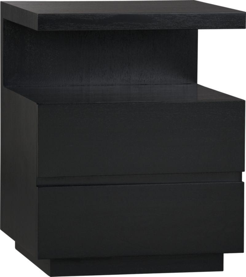 Pavillion Black Nightstand Crate And Barrel Reg 499 Sale 299