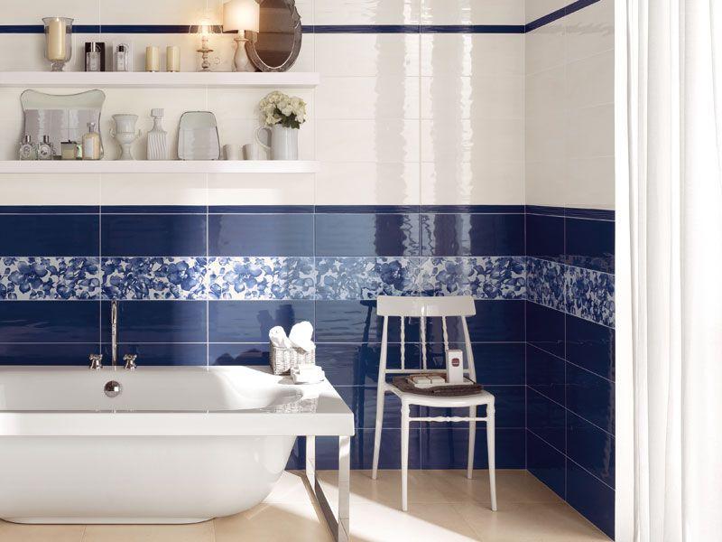 Bagno piastrelle blu cerca con google bathroom - Dipingere piastrelle bagno ...
