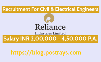 Reliance Industries Recruitment For Civil & Electrical