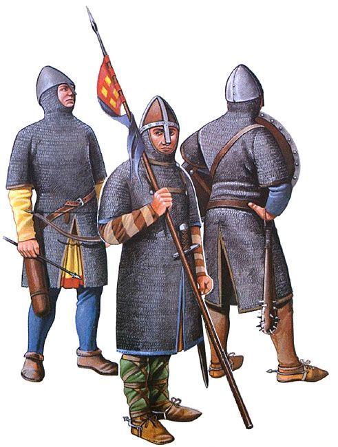 Norman Archer Dismounted Norman Knight 1066 Norman Bishop Historia Medieval Temprana Edad Media Guerreros