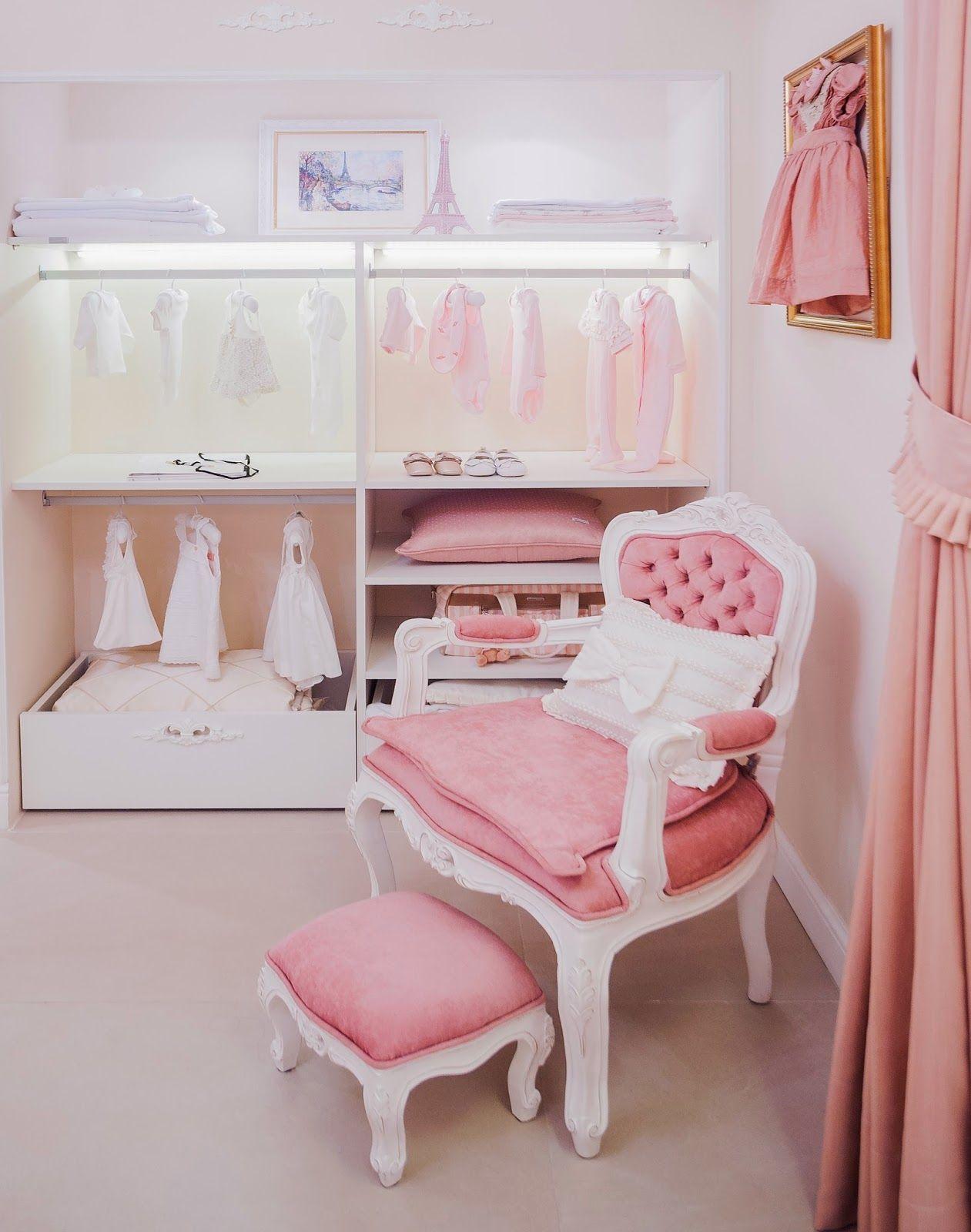 Quarto De Beb Rosa 60 Fotos E Inspira Es Incr Veis  ~ Quarto Do Bebe Menina Com Quarto De Bebe De Luxo