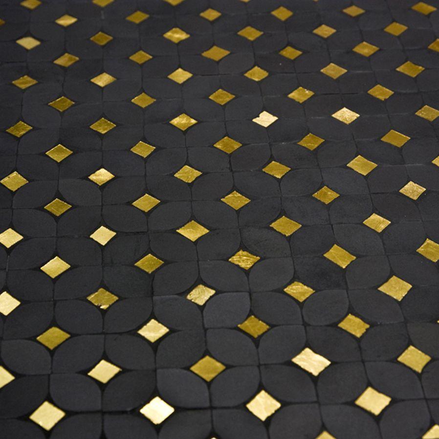 Atelier Lilikpo Petales Noir Or Carreaux Ciment Salle De