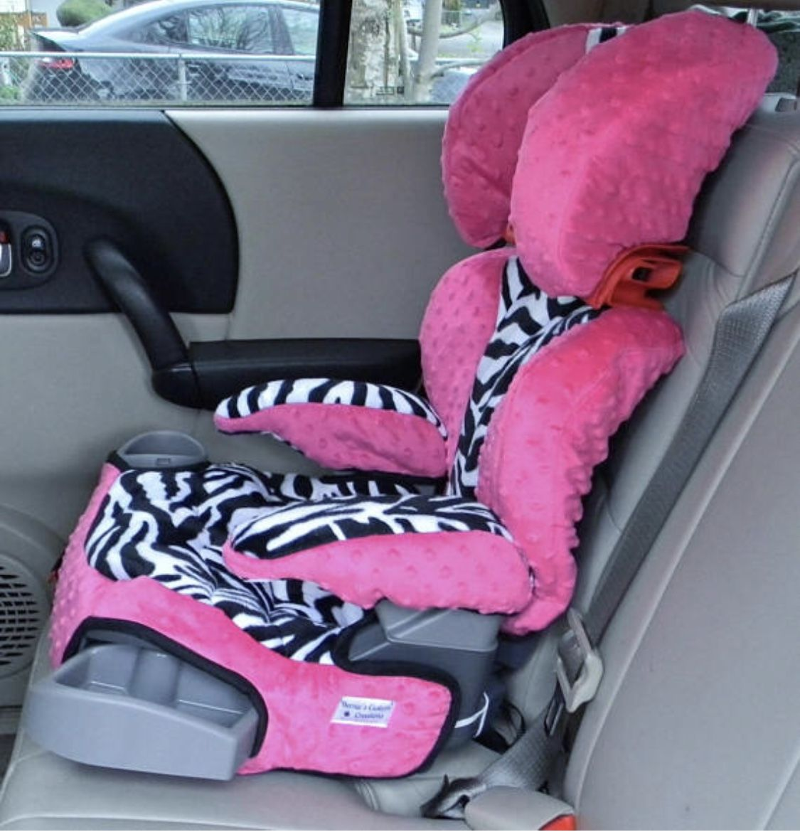 Custom Made Graco Affix Booster Seat And Arm Covers Padded Lined Quilted