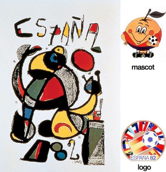5a6bb5b723 Cartel oficial de la Copa del Mundo España 1982 realizado por el artista  Joan Miró i Ferrà   Official poster of the FIFA World Cup Spain 1982 made  by the ...