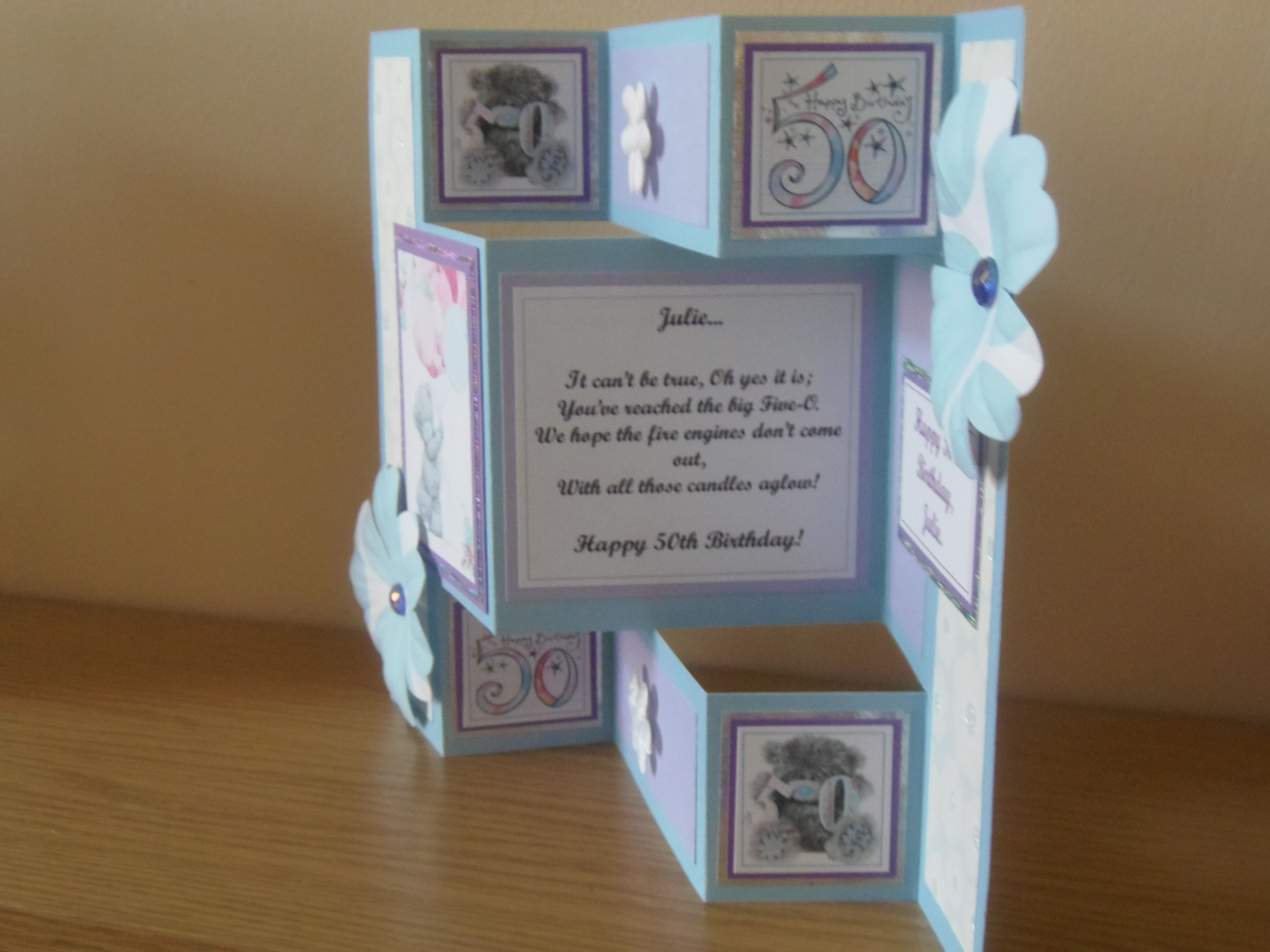Side view of th birthday card tri shutter cards pinterest
