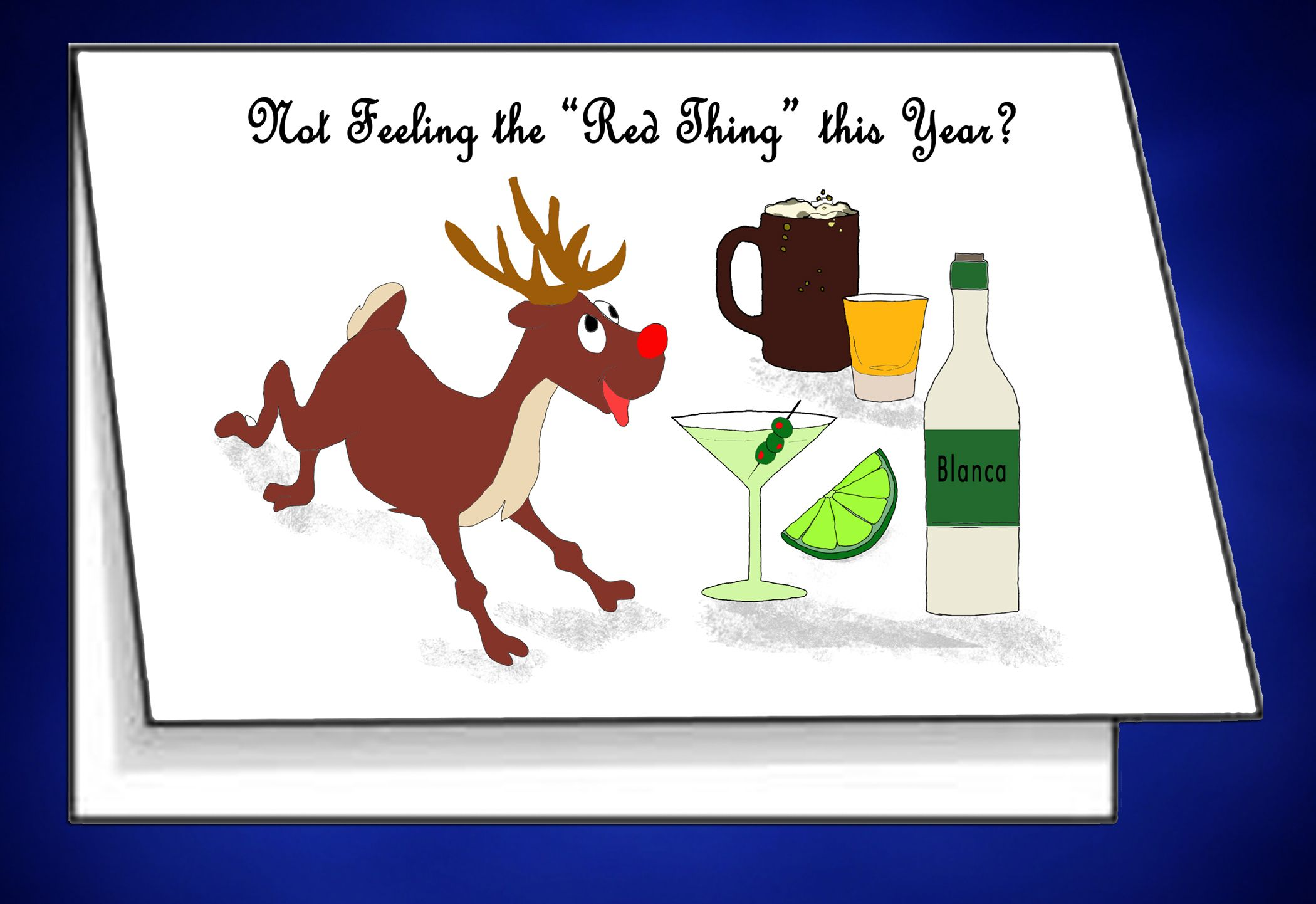 Rudolph The Red Nose Reindeer Card To Print From Home Black And