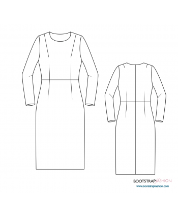 Custom-Fit Sewing Patterns - Sloper (Basic Block) Woven with Waist ...